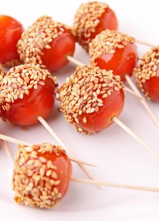 cherry tomato like toffee apple