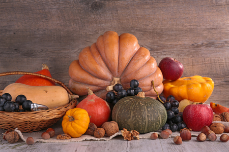 assorted fruit and vegetable autumn