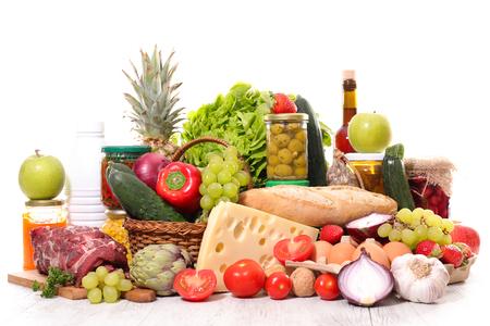 variety of organic food
