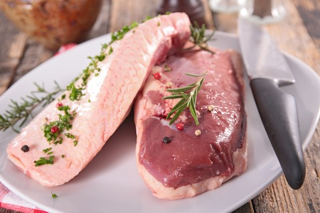 Photo for raw duck breast - Royalty Free Image