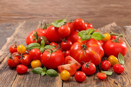 assorted colorful tomato