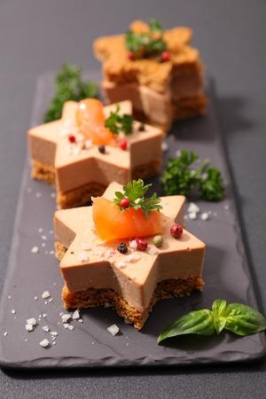 Foto de christmas toast with foie gras - Imagen libre de derechos
