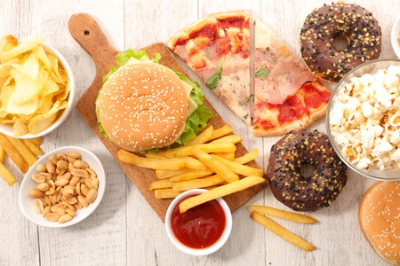 Photo pour assorted fast food,junk food - image libre de droit