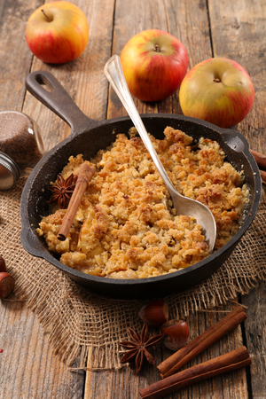 Photo for homemade apple crumble - Royalty Free Image