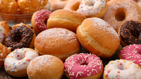 Photo for assorted donut and cake - Royalty Free Image