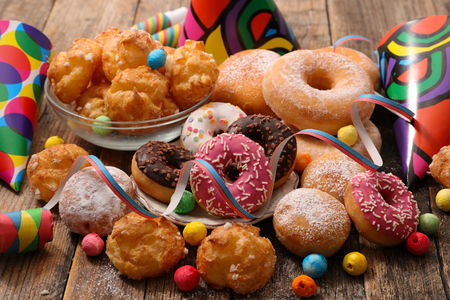 Photo for assorted pastry for carnival decoration - Royalty Free Image