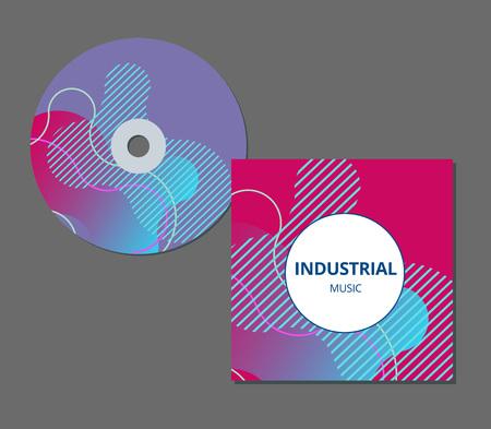 Ilustración de CD cover presentation design template with copy space and wave effect. EPS10 vector illustration. - Imagen libre de derechos