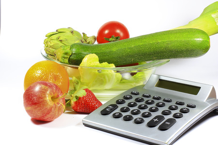 A calculator to count calories of healthy foods like fruits and vegetables with few calories