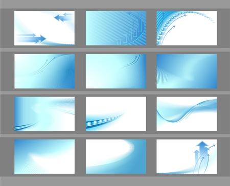 Photo pour Horizontal vector backgrounds for business cards - image libre de droit