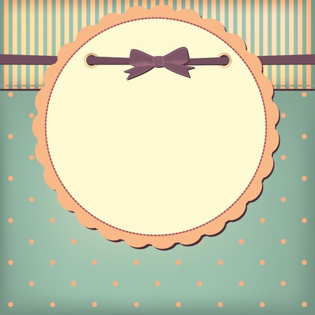 Photo for  greeting card with bow. Space for your text or picture. - Royalty Free Image