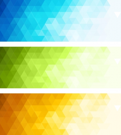 Illustration for Abstract color banner - Royalty Free Image