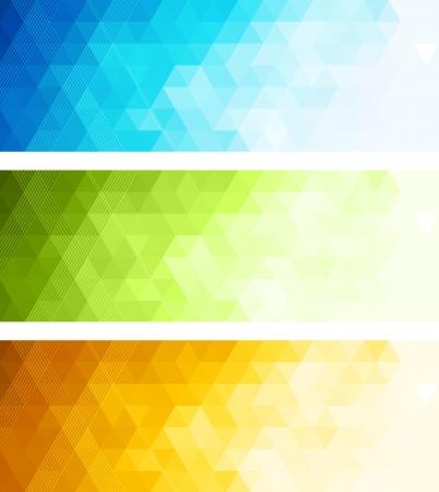 Illustration pour Abstract color banner - image libre de droit