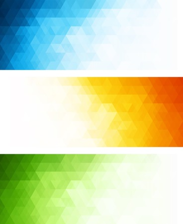 Photo pour Vector color abstract geometric banner with triangle. - image libre de droit