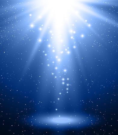Ilustración de Vector  illustration Abstract magic blue light background - Imagen libre de derechos