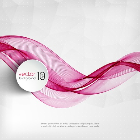 Photo pour Vector illustration Abstract colorful transparent wave. EPS 10 - image libre de droit