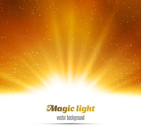 Photo for Vector  illustration Abstract magic gold light background - Royalty Free Image