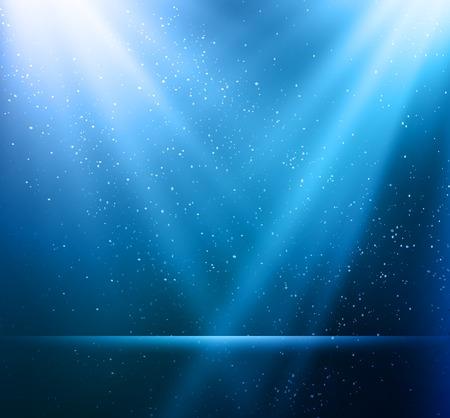 Illustration pour Vector  illustration Abstract magic blue light background - image libre de droit