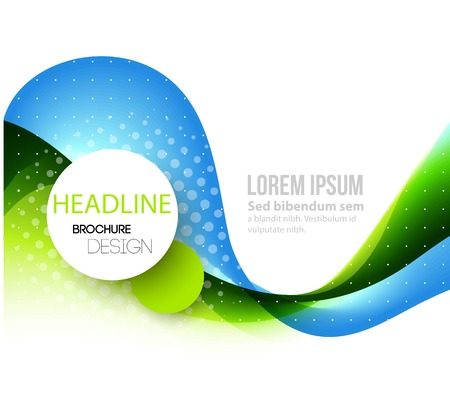 Photo pour Vector Abstract curved lines background. Template brochure design - image libre de droit