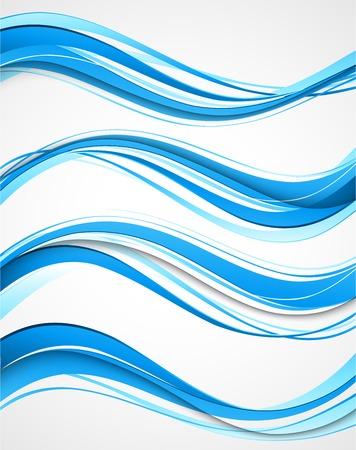Ilustración de Vector Abstract curved lines background. Template brochure design - Imagen libre de derechos