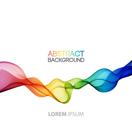 Ilustración de Vector Abstract smoky waves  background. Template brochure design - Imagen libre de derechos
