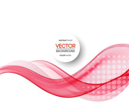 Foto de Vector Abstract purple curved lines background. Template brochure design - Imagen libre de derechos