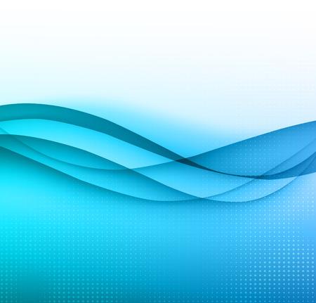 Illustration pour Abstract colorful vector template waved background. EPS10 - image libre de droit