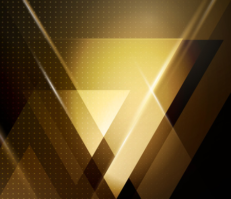 Illustration pour Vector color abstract geometric banner with triangle shapes. - image libre de droit