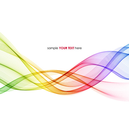 Ilustración de Vector Abstract spectrum curved lines background. Template brochure design - Imagen libre de derechos
