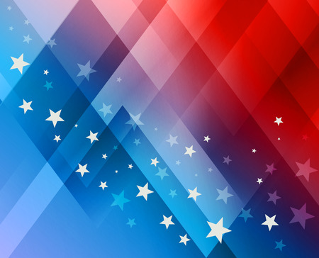 Illustration for Fireworks background for 4th of July Independense Day - Royalty Free Image