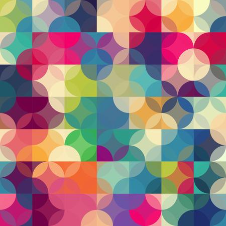Illustration pour Abstract colorful  rfetro geometric background. Vector illustration - image libre de droit