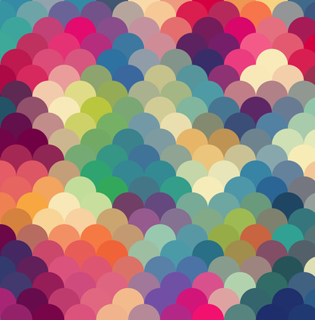 Illustration for Abstract colorful  rfetro geometric background. Vector illustration - Royalty Free Image