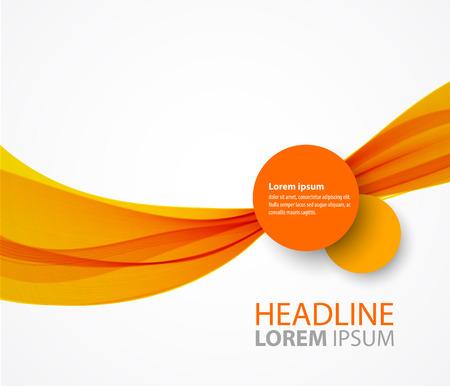 Illustration pour Vector abstract orange wave background for flyer design - image libre de droit