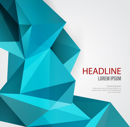 Illustration pour Vector Abstract Geometric Background. Triangular design. Low poly abstraction - image libre de droit
