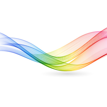 Ilustración de Vector Abstract color wave background. Rainbow wave - Imagen libre de derechos