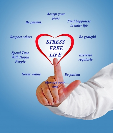 Photo for Stress free lifestyle tips - Royalty Free Image