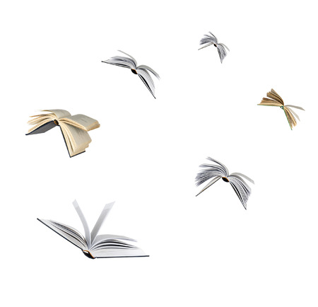 Photo for Flying books - Royalty Free Image