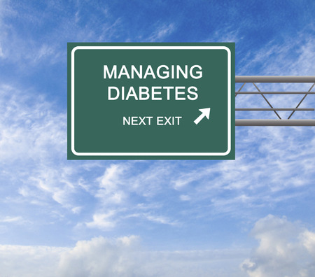 Foto per Road Sign to diabetes management - Immagine Royalty Free