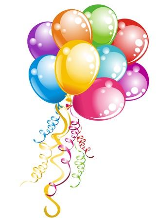 Ilustración de Bunch balloons - Imagen libre de derechos