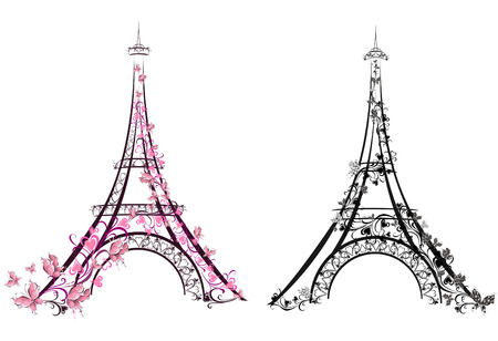 Ilustración de Eiffel Tower, Paris, France  Vector illustration - Imagen libre de derechos