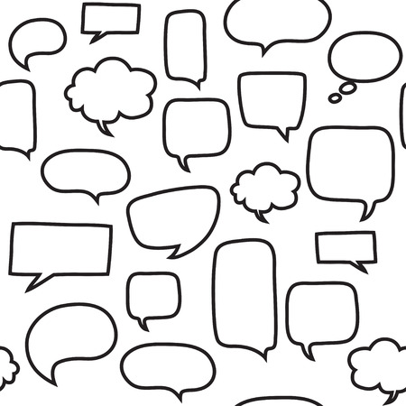 Ilustración de Seamless pattern with speech bubbles. Beautiful vector design. - Imagen libre de derechos