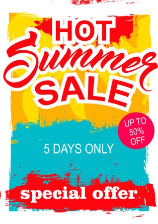 big summer sale. background sale. special offer. background in grunge style.