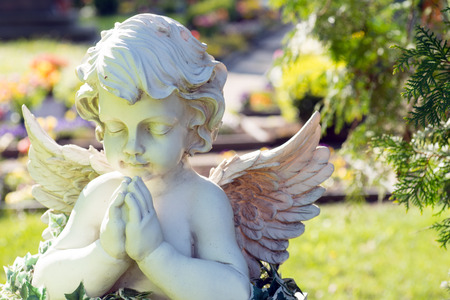 Photo for Angel figure in a cemetery - Royalty Free Image