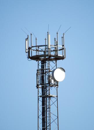 Wireless Mast and blue sky