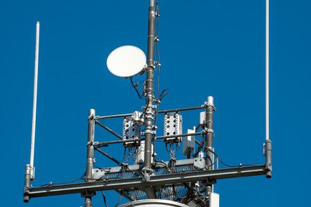 Radio mast and blue sky