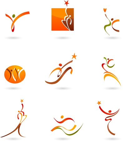 Abstract people icons and symbols