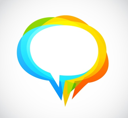 Photo pour Speech bubble - colorful abstract background - image libre de droit