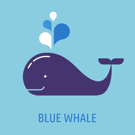 Illustration for whale icon with speech bubbles - Royalty Free Image