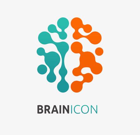 Illustration pour Brain, creation, idea icon and element - image libre de droit
