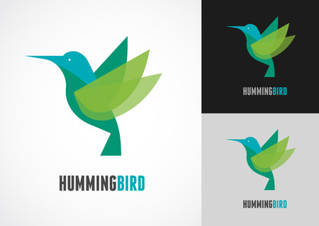 Illustration pour Tropical bird - humming vector icon - image libre de droit