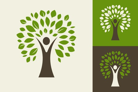 Illustration for green tree - logo and icon - Royalty Free Image
